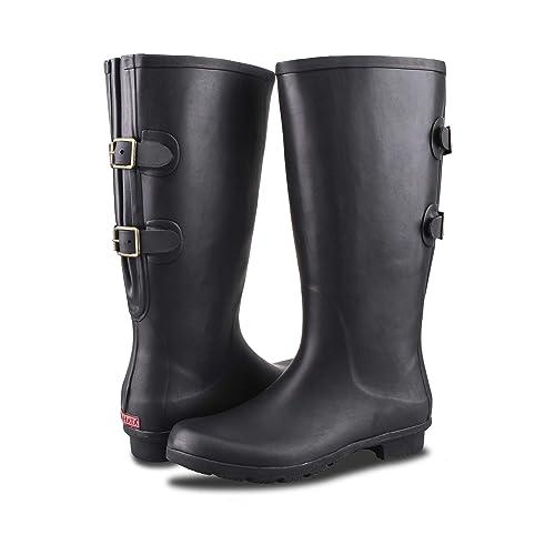 Buy RAHATA Rubber Wide Calf Rain Boot