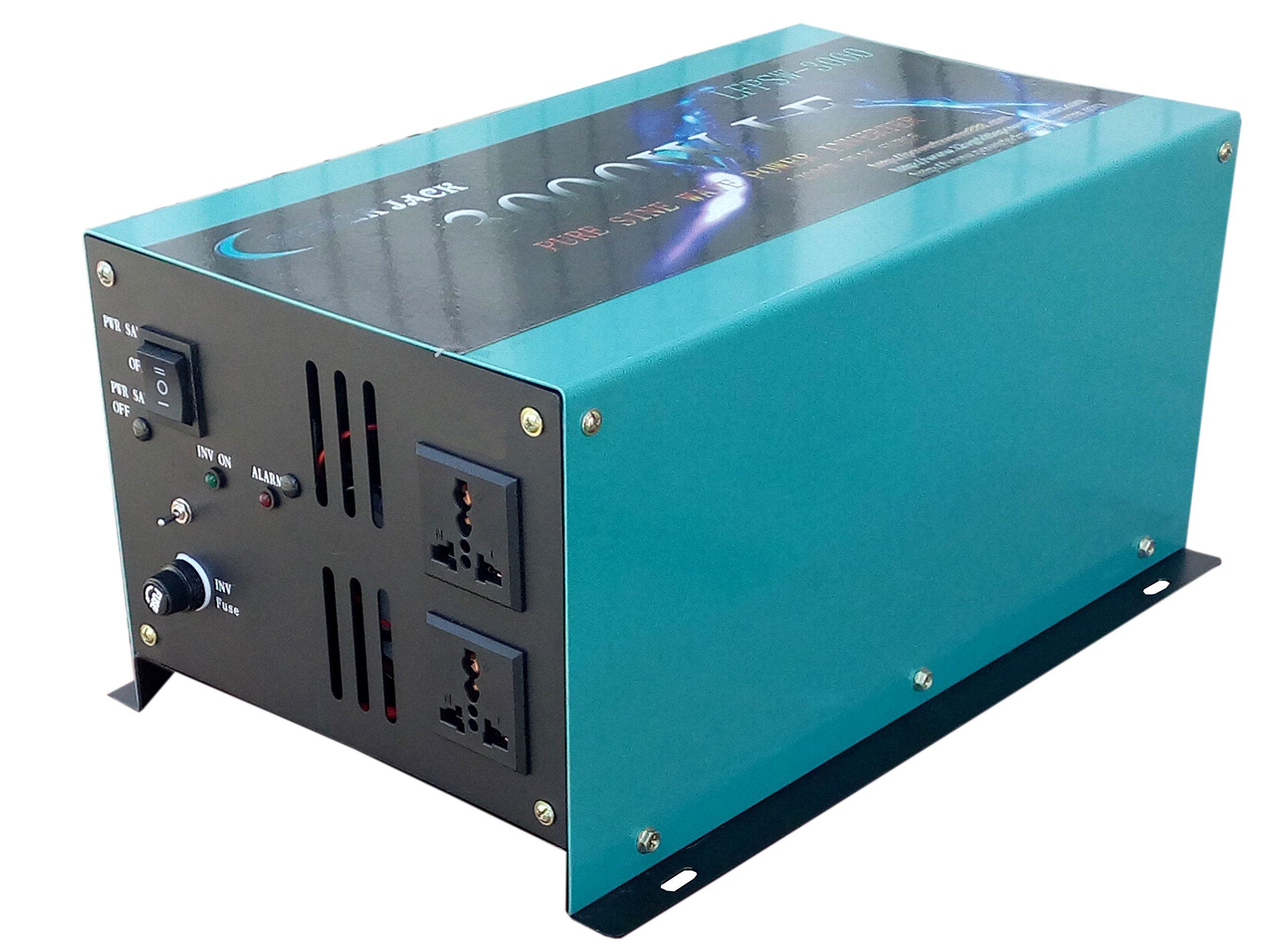 12000W peak 3000W LF Pure Sine Wave Power Inverter DC 12V to AC 110V 60Hz