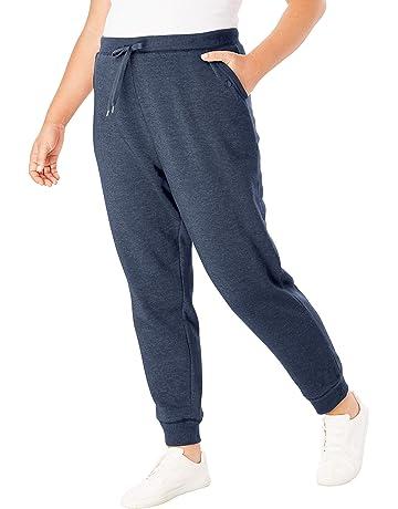 b979afbfbba4 Woman Within Women s Plus Size Petite Better Fleece Jogger Sweatpant