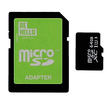 BeHello BEHGAD00017 Memoria Flash 64 GB MicroSDXC Clase 10 ...
