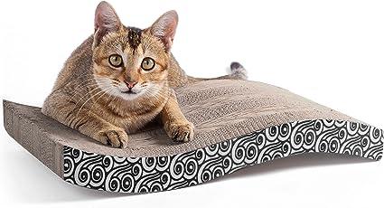 Scratching Pads Cat Scratcher Cardboard Wave Curved Shape Karaseno ...