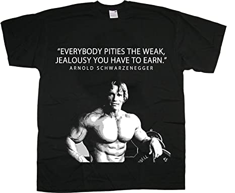 Mens Gym T-Shirt Top Arnold Schwarzenegger Arnie Workout Tee Training  Bodybuilding Muscle