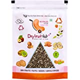 Dry Fruit Hub Chia Seeds 800gms Black Organic for Weight Loss White Seeds Omega 3 Eating Natural Raw