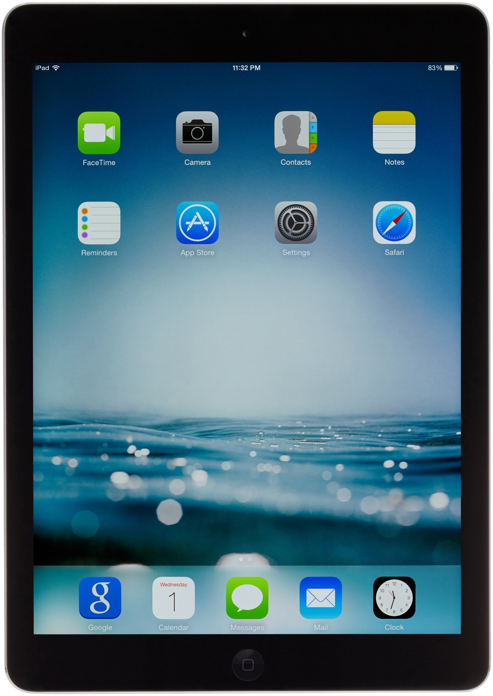 Apple iPad Air ME898LL/A (128GB, Wi-Fi, Black with Space Gray) OLD VERSION (Certified Refurbished)