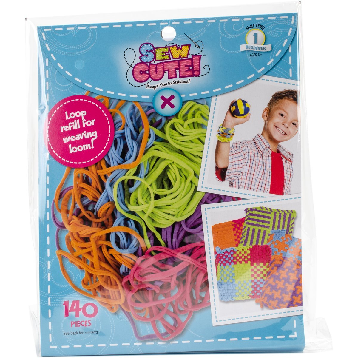 Sew Cute! Loom Loop Refill Kit-Bright Colorbok 335488