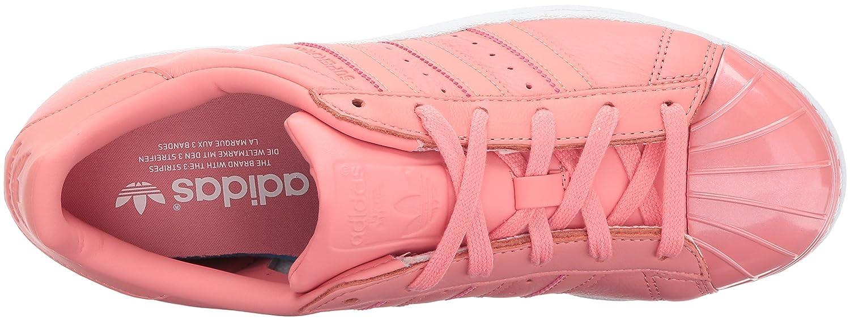 adidas Originals Women's Superstar Metal Toe W Skate Shoe B01NCLOKAH 9.5 B(M) US|Tactile Rose/Tactile Rose/White