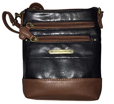94b3b1393f1ef5 Stone Mountain Vintage 3 Bagger, Tan and Black: Handbags: Amazon.com