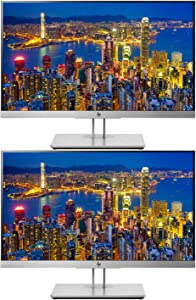 HP EliteDisplay E233 23 Inch IPS LED Backlit Monitor 2-Pack, FHD 1920 x 1080 (1FH46A8#ABA)