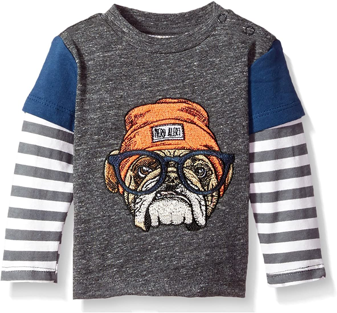 Rosie Pope Baby Boys Embroidered Dog Tee