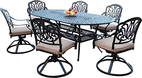 GrandPatioFurniture.com CBM Patio Elisabeth Cast Aluminum 7 Piece Dining Set