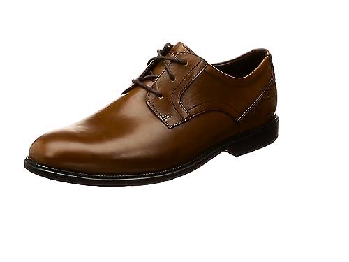 03c7c39449f5b Rockport Men's Madson Plain Toe Derbys: Amazon.co.uk: Shoes & Bags