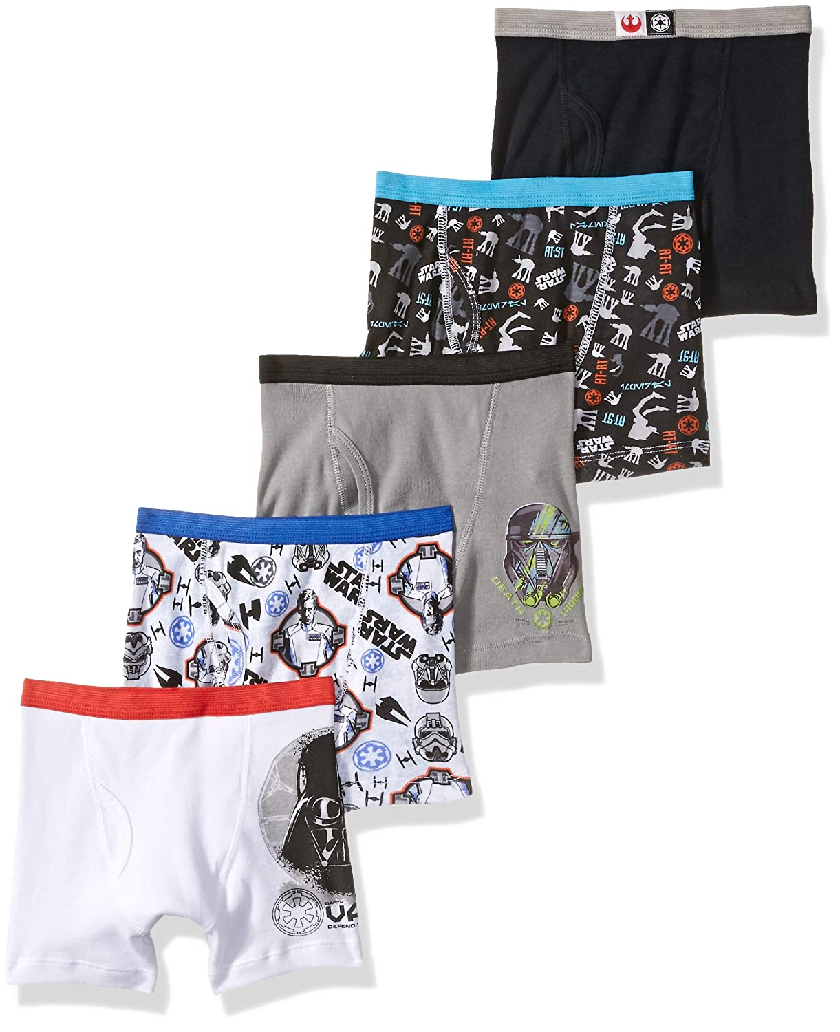 Disney boys Big Boys Star Wars Rogue 1 5 Pack Boxer Brief BBP9238