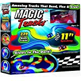 SHC Tracks Bend, Flex and Glow Racetrack with Glow In the Dark Track and 1 Race Car, 220 Piece