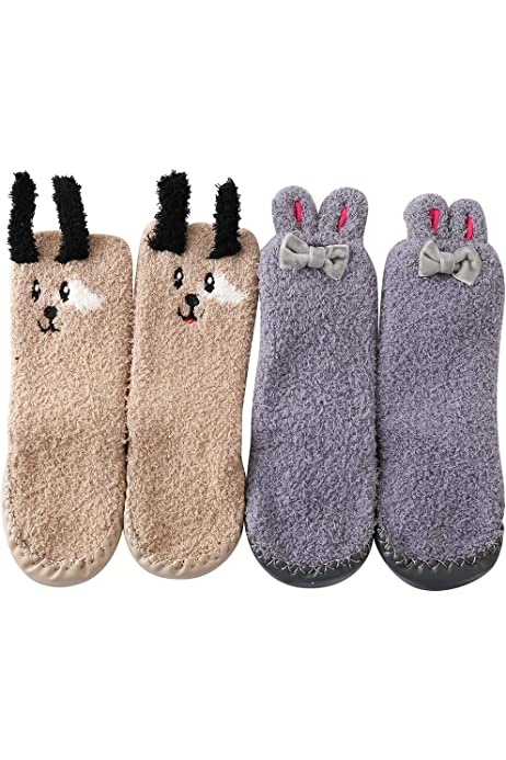 Toddler Slippers Socks With Grips