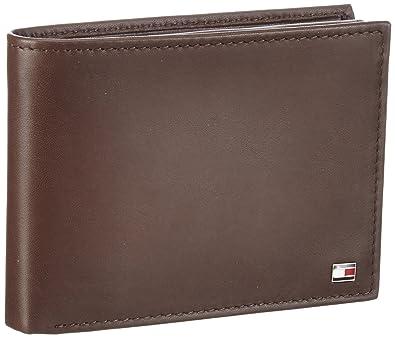 Tommy Hilfiger ETON CC FLAP AND COIN POCKET Wallets Mens Brown Braun - Porte monnaie tommy hilfiger