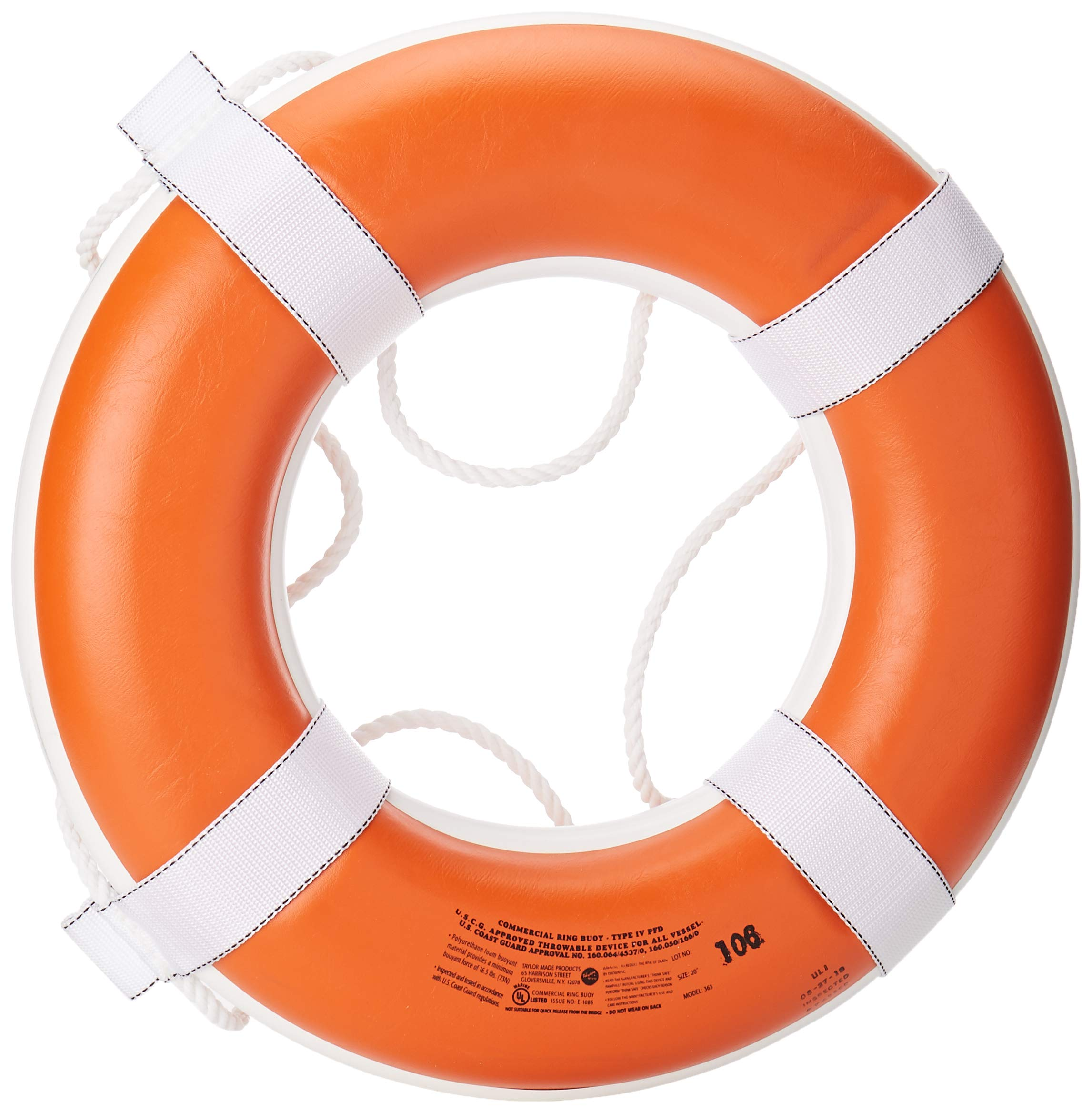 Taylor Made Products 363 Foam Ring Buoy, 20-Inch, Orange by TAYLOR MADE PRODUCTS