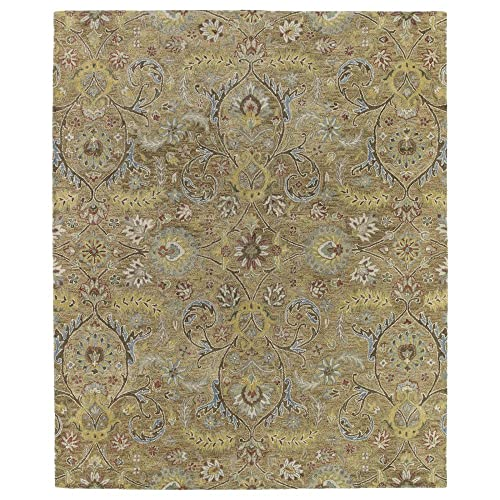 Kaleen Helena Collection Hand Tufted Area Rug, 4 x 6 , Gold