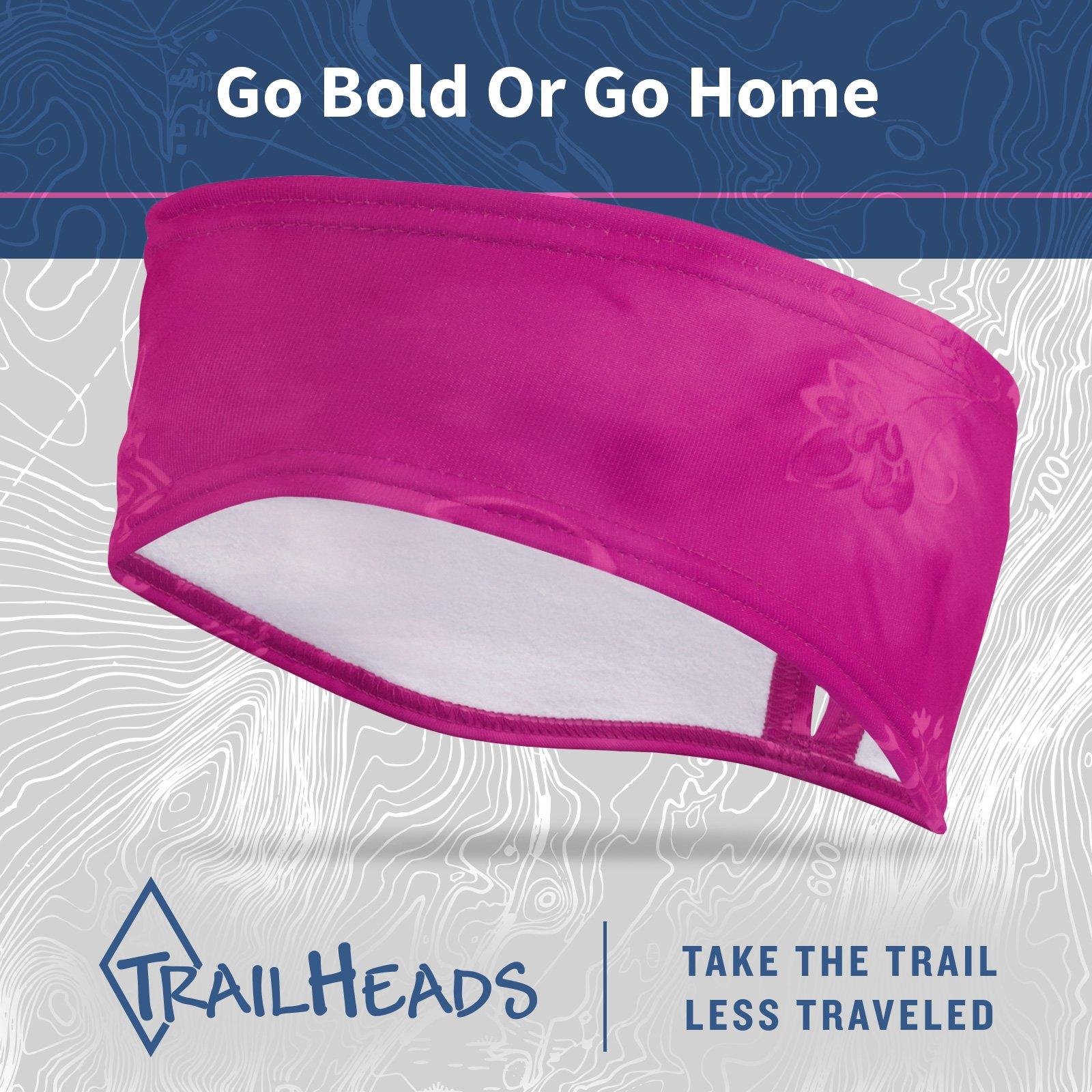 TrailHeads Women's Print Ponytail Headband – 12 prints - Made in USA - pink splash by TrailHeads (Image #6)