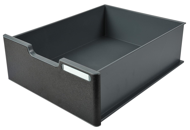 Exacompta Modulodoc Ecoblack - Cajón con frontal y porta-etiqueta, 110 mm, color negro 338714D