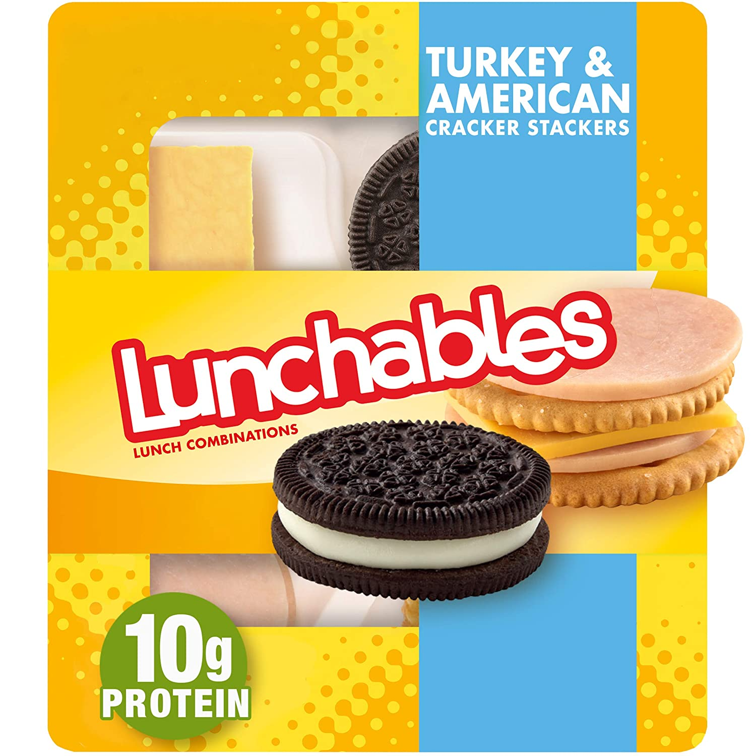 Lunchables Turkey & American Cheese Cracker Stackers with Chocolate Sandwich Cookies Snack Kit (3.4 oz Tray)