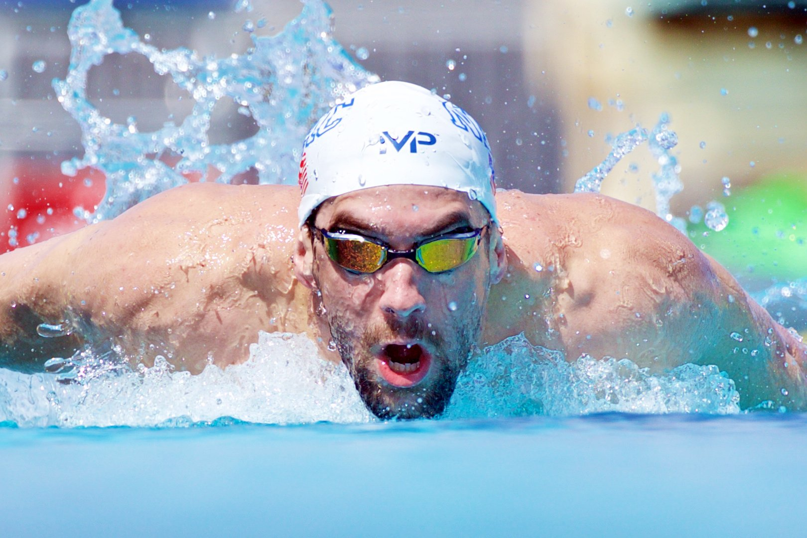 MP Michael Phelps XCEED Swimming Goggles, Mirrored Lens, Yellow/Black Frame by MP Michael Phelps (Image #4)