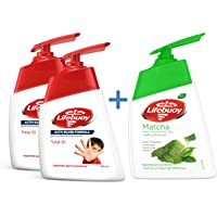 Lifebuoy Hand Wash Total 10, 200 ml + 180 ml