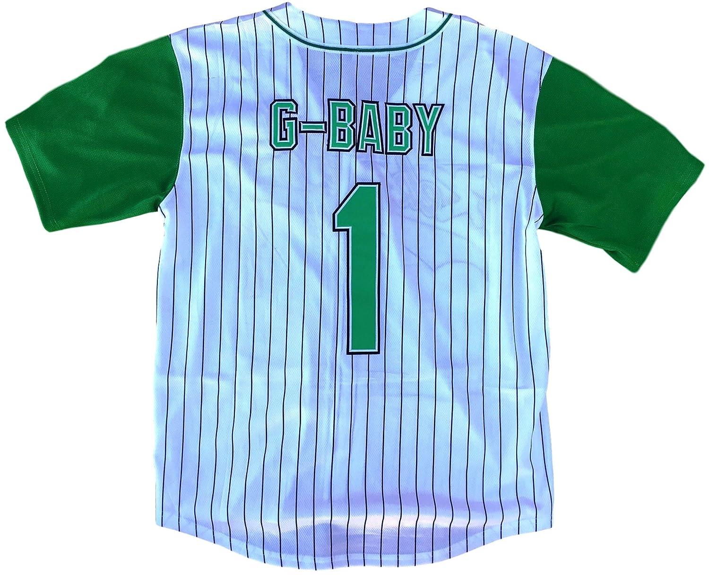 Amazon.com  MVG ATHLETICS G-Baby Jarius Evans Hardball Kekambas  1 Movie Baseball  Jersey Embroidered S-XXL  Clothing 7c11f0d3f6