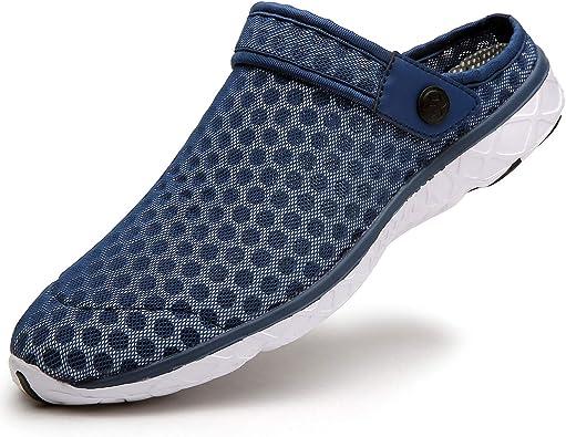 Zuecos Hombres Mujer Zapatillas de Playa Respirable de Jardin Interior Exterior Antideslizante Cómodos Sandalias Zapatos Verano 36-48 EU: Amazon.es: Zapatos y complementos