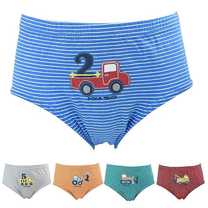 7190d4a2f3034 Allmeingeld Jungen Slips 5er Pack Baumwolle Unterwäsche LKW Set für Kinder  3-12 Jahre