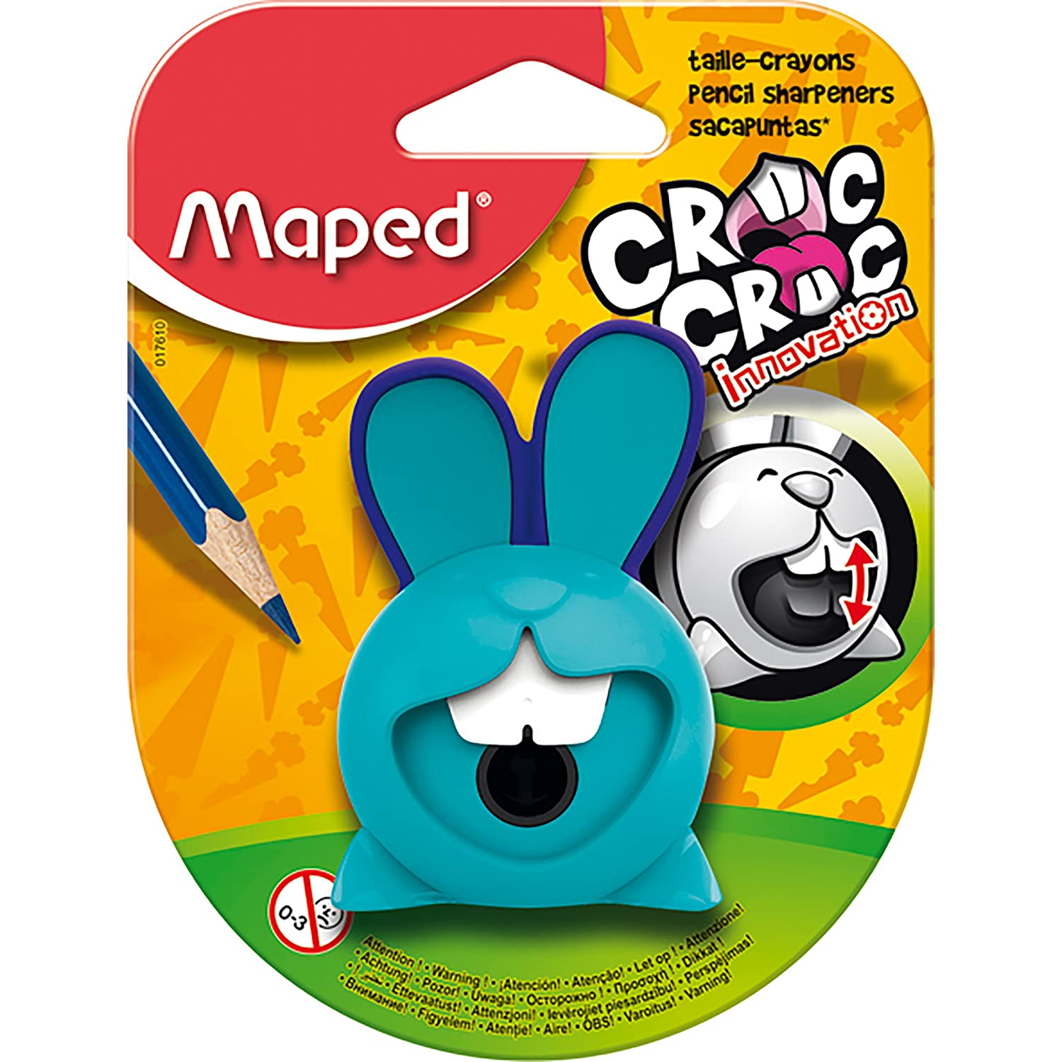 765a98993eaa Maped Croc Croc Bunny Innovation One Hole Pencil Sharpener (Assorted  Colours)  Amazon.co.uk  Office Products