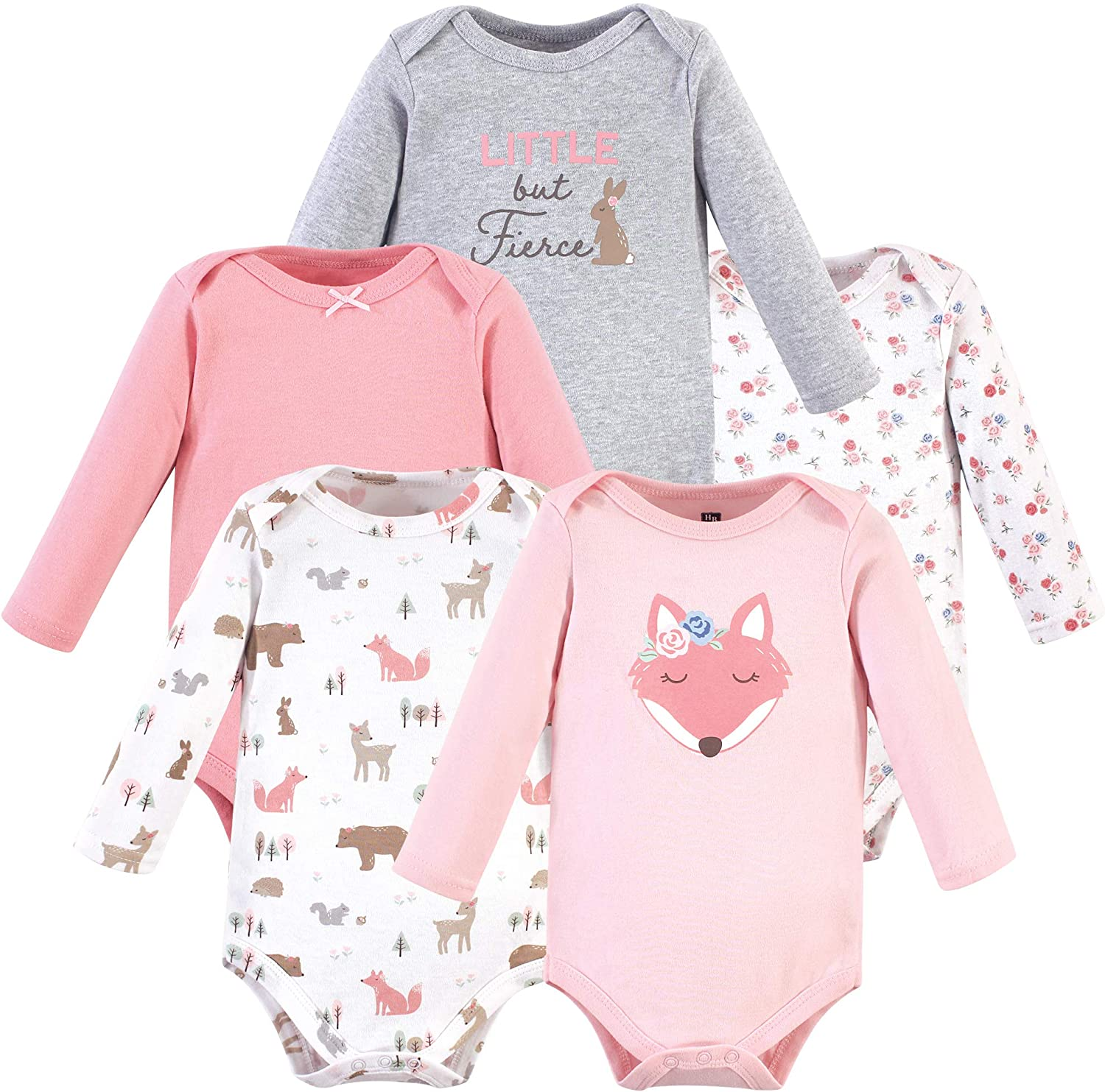Hudson baby unisex-baby Cotton Long-sleeve Bodysuits Baby and Toddler T-Shirt Set