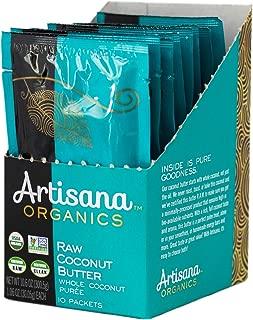 product image for Artisana Organics Non GMO Raw Coconut Butter, 10 Snack Pouches