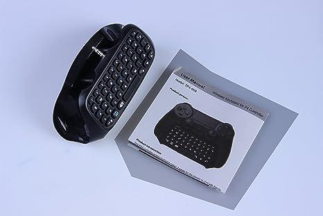 Eleganantamazing PS4 Teclado Inalámbrico Ergonómico Teclado con Plataforma Ajustable - Negro