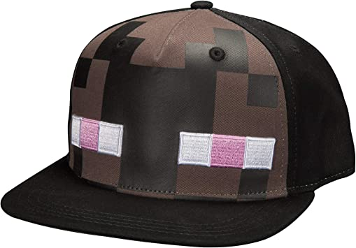 Minecraft béisbol Enderman Mob Sombrero Gorra j6207, Color Negro ...