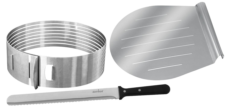 Zenker 2411 Set 3 utensili per il taglio di torte 7705