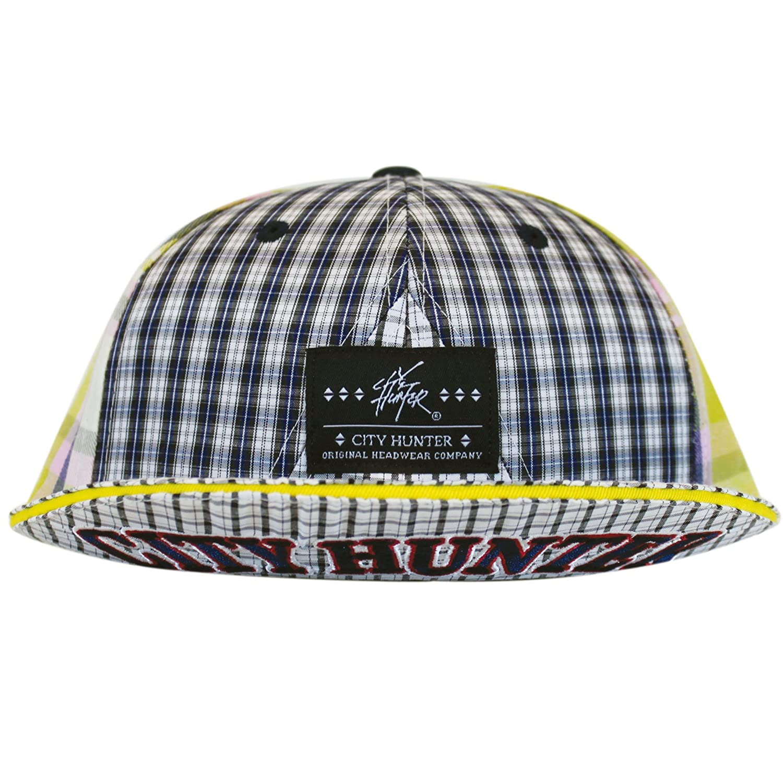 3 Colors City Hunter Cx110 Plaid 6 Panel with Short Visor Hat
