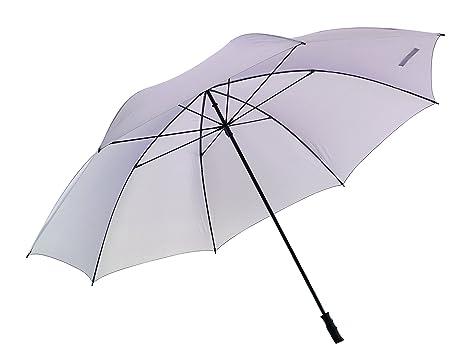 Paraguas para 7 personas 180 cm diámetro gris claro ligero con ca 1 kg