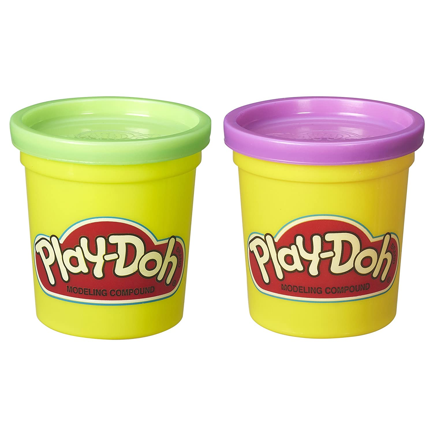 Play-Doh 2-Pack of Cans Purple and Green