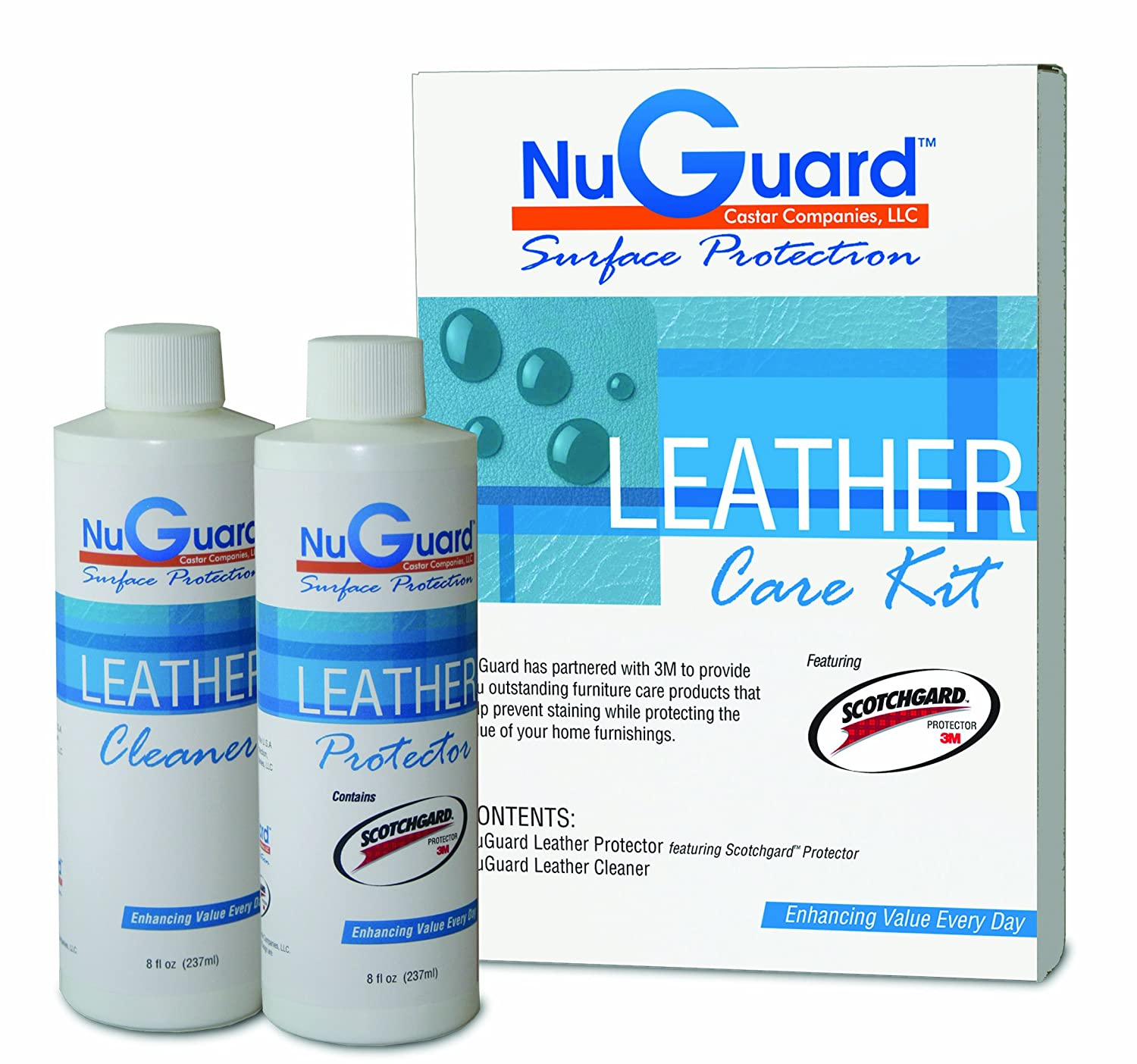Amazon.com: NuGuard Featuring Scotchgard Leather Care Kit: Kitchen U0026 Dining