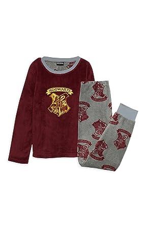 b7dc212efa33 Harry Potter Hogwarts Burgundy Kids Pyjama Set Soft cosy fleece 7 years to  12 years