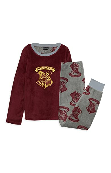 Pijama para niños, diseño de Hogwarts de Harry Potter, forro polar suave y cálido
