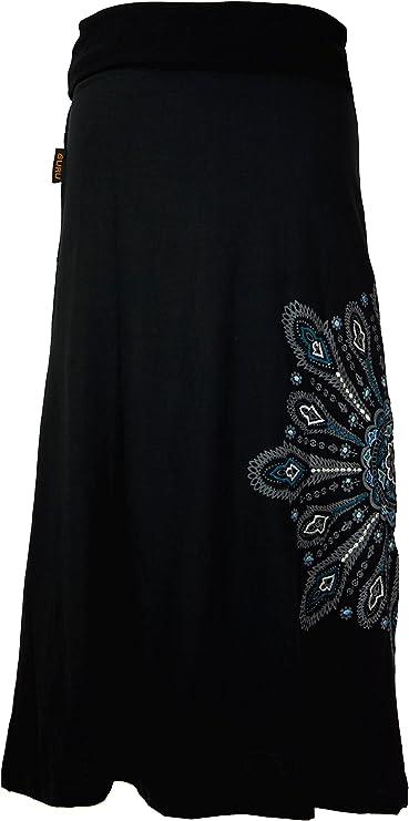 Guru-Shop Maxirock, falda larga, mandala, boho, mujer, algodón ...