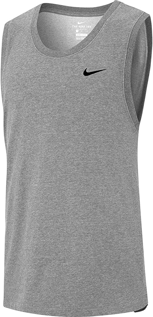 Nike DRI-FIT Sleevless RUNNING Shirt Track mens X-Large top tank White