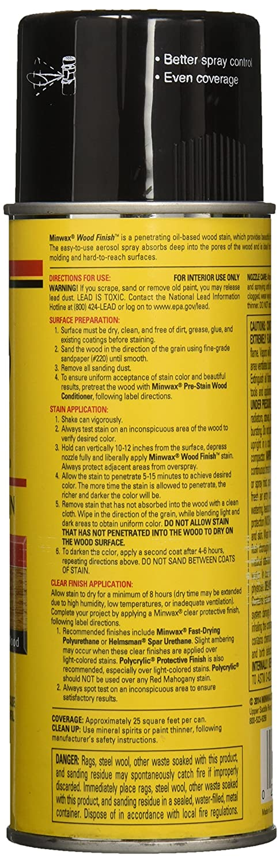 Minwax 32716000 Wood Finish Penetrates Stains Seals Aerosol Spray