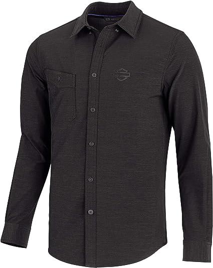 HARLEY-DAVIDSON - Camisa para Hombre (Tejido Doble, Ajustable), Color Negro: Amazon.es: Ropa y accesorios
