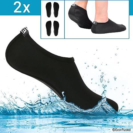 3f1b94262cbfc ECO-FUSED Chaussettes d'eau pour Les Femmes - Confort supplémentaire -  Protège (