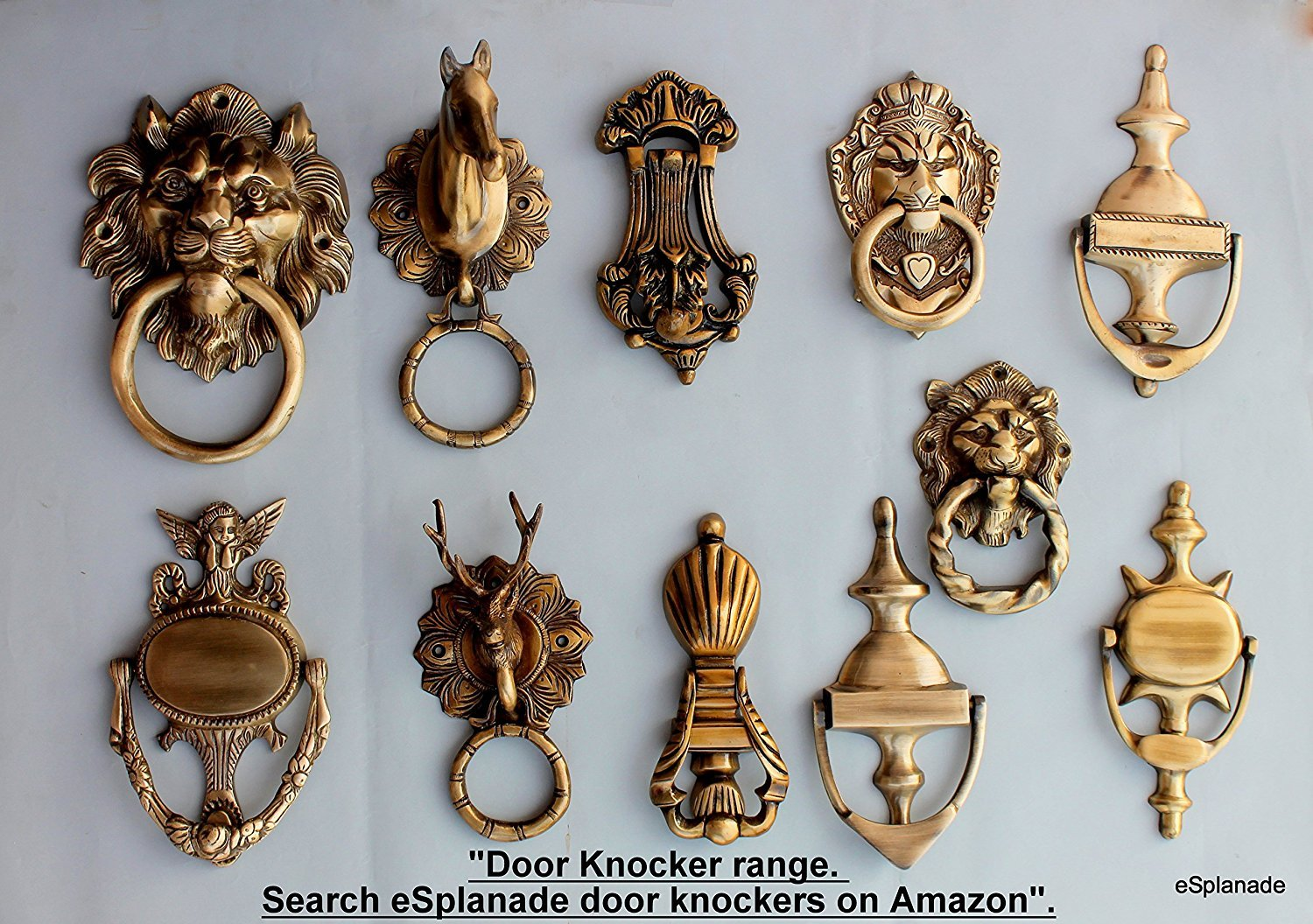 nickel front lions knockers head s aged door knocker furniture lion