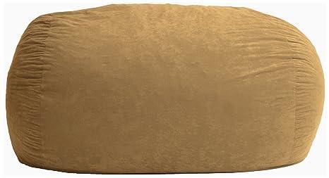 Surprising Big Joe Fuf Foam Filled Bean Bag Extra Extra Large Sand Dune Comfort Suede Inzonedesignstudio Interior Chair Design Inzonedesignstudiocom