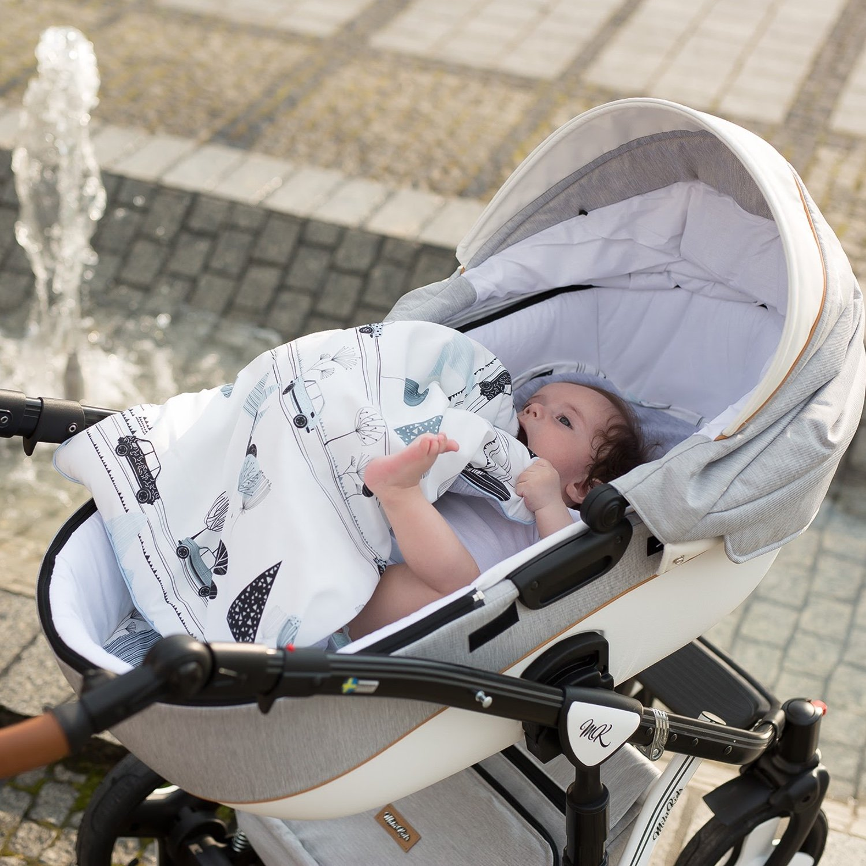 Sevira Kids/ +//- 2 cm - 0//12 mois env. /Saco universal primavera//verano para cochecito y asiento auto azul City Boy//Bleu Talla:Taille: 45x80 cm