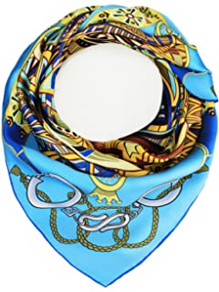Silk Scarf 100/% Seide Tuch Schal JIN Damen handrolliertes Seidentuch Schmetterlinge 110 x 110 cm